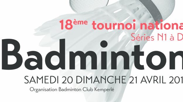 18ème Tournoi National de Quimperlé 20/21 avril 2019